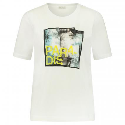 T-Shirt mit Print weiss (10000 weiss)   42