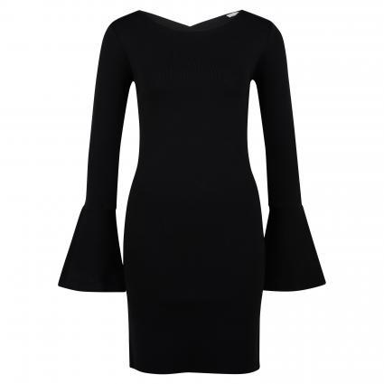 Kurzes Kleid mit Rückendetail schwarz (K103 NERO)   M