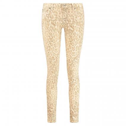 Slim-Fit Jeans 'Pyper' mit Animal-Muster beige (leo print natural) | 28