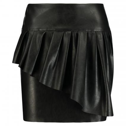 Minirock aus Lederimitat schwarz (BLACK BLA01) | 36