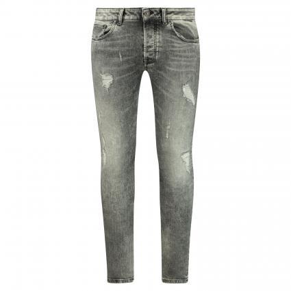 Slim-Fit Jeans 'Walton' mit Destroyed-Details  grau (702 light grey) | 32 | 34