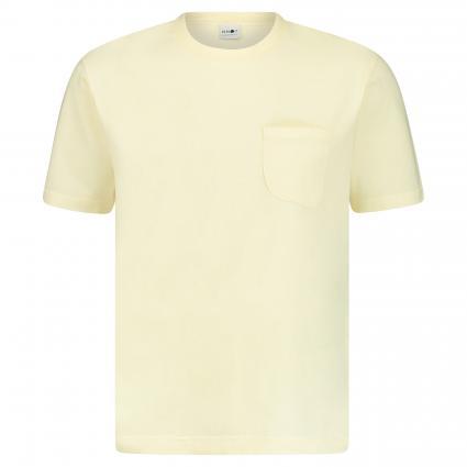 T-Shirt 'Dylon' mit Brusttasche  gelb (404) | S