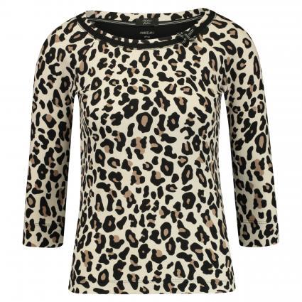 Shirt mit Animal-Print beige (136 cuban sand)   38