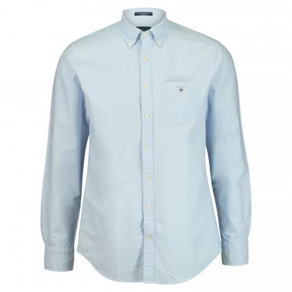 Button-Down Hemd mit Logo-Stickerei blau (468 Blue) | XL