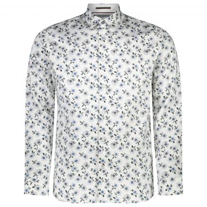 Hemd Regular-Fit 'Wewill' aus Baumwolle mit Blumenmuster weiss (WHITE)   XL