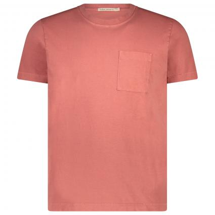 T-Shirt 'Roy' mit Brusttasche rot (dusty red) | S