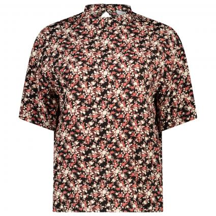 Blusenshirt mit floralem Print schwarz (OGM MINI FLORAL)   34