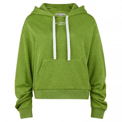 Hoodie in Glitzer-Optik grün (050) | XS