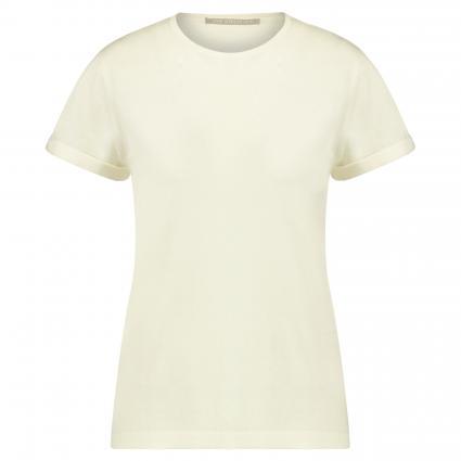 T-Shirt aus Seiden-Mix ecru (104 pearl) | 40