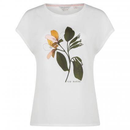 Shirt 'Vinsana' mit floralem Print  weiss (WHITE) | 36