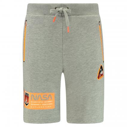 Shorts 'Mars' mit Zippertaschen grau (17 grey heather )   M