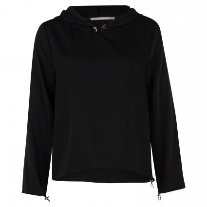 Blusenshirt mit Kapuze schwarz (901 black) | 36
