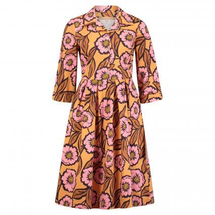 Kurzes Kleid im Retro-Stil divers (036 blau/rose AOP) | 36