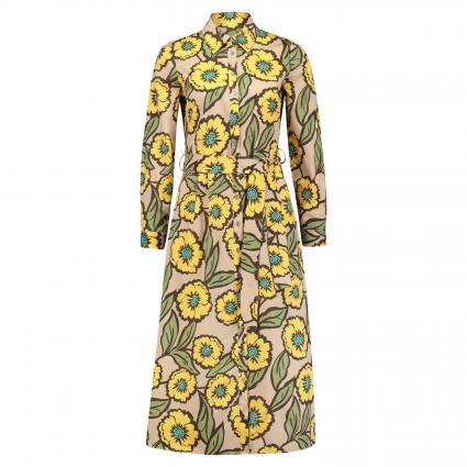 Hemdblusenkleid mit floralem Muster divers (004 gelb/beige AOP) | 36