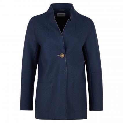 Jacke mit offener Kantenverarbeitung blau (2 marine) | 42