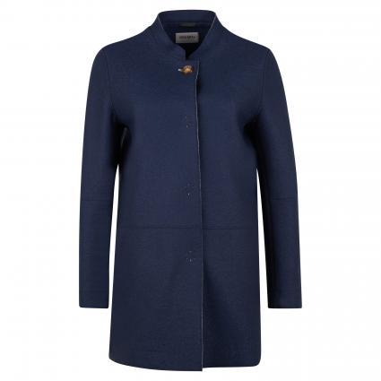 Mantel mit offenen Kanten blau (2 marine) | 42