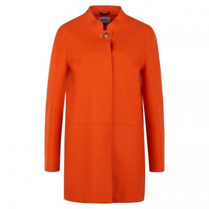 Mantel mit offenen Kanten orange (4 orange) | 36