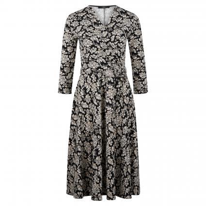 Kleid 'Acqua' mit All-Over Print schwarz (002 AOP Blume) | L