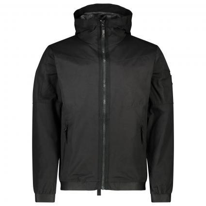 Jacke 'Omega' mit Kapuze  schwarz (E90 black) | M