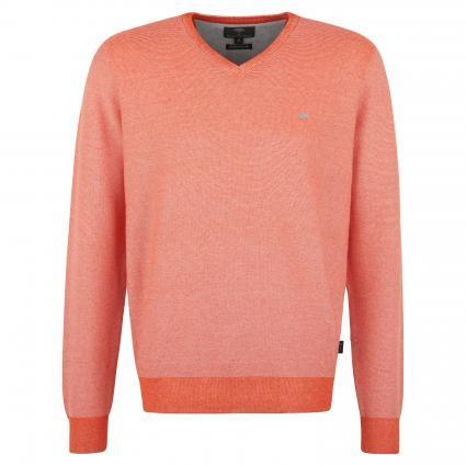 Pullover mit V-Ausschnitt orange (1204 Orange) | XL