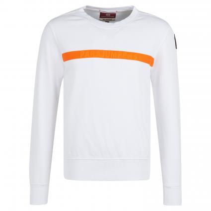 Sweatshirt 'Armstrong' mit Kontraststreifen weiss (501 white) | M