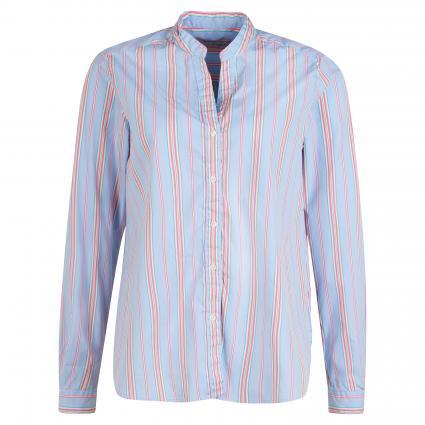 Bluse mit Streifenmuster blau (624-15 bleu-pink/min) | 40