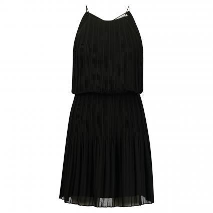 Kleid 'Myllow' mit Plisseefalten schwarz (BLACK) | M