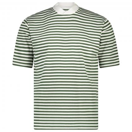 T-Shirt mit All-Over Streifenmuster grün (GN39 Hedge Green) | XL
