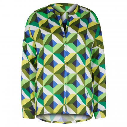 Bluse mit grafischem Muster grün (590 grün/royal)   38
