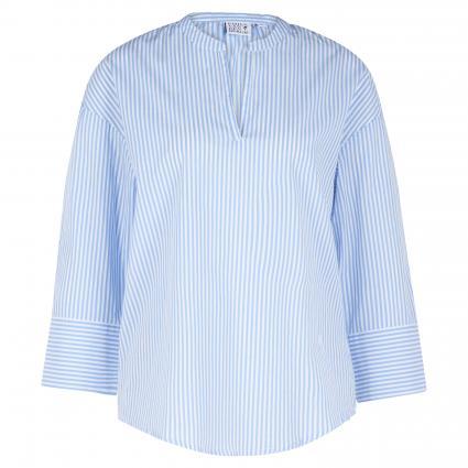 Oversized Bluse mit Streifenmuster blau (680 blau/weiß) | 44