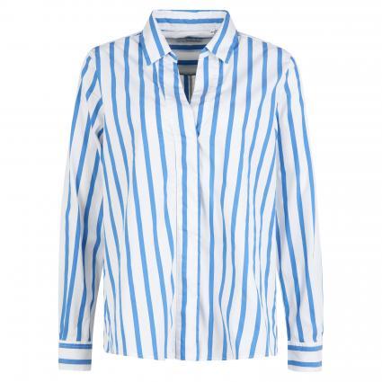Hemdbluse mit Streifenmuster weiss (179/15 weiß/blau) | 42