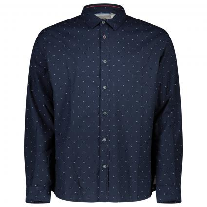Hemd mit All-Over Muster  marine (Absolute Blue) | L