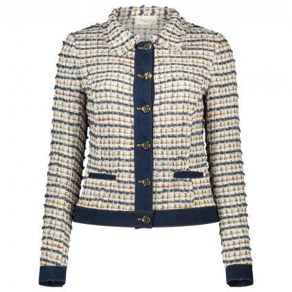 Blazer in Bouclé mit Jeans-Details ecru (F6039) | S