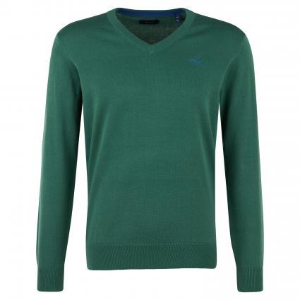 Pullover mit V-Ausschnitt grün (308 Green) | XXL