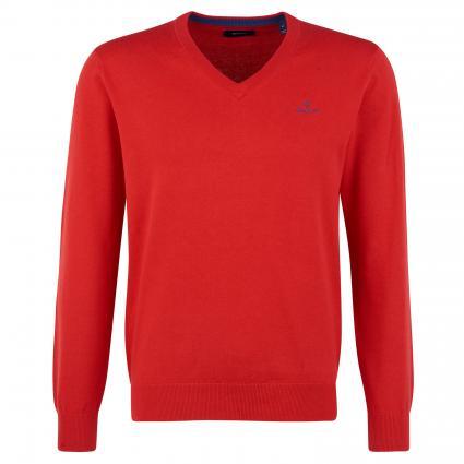 Pullover mit V-Ausschnitt rot (688 Red) | S