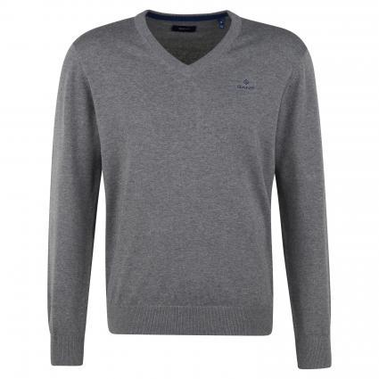 Pullover mit V-Ausschnitt grau (92 Grey)   XXXL