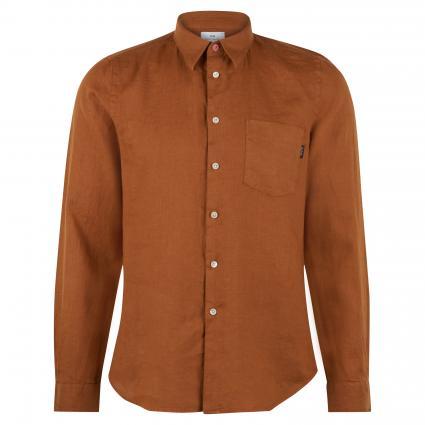Slim-Fit Hemd aus Leinen braun (65 brown)   M