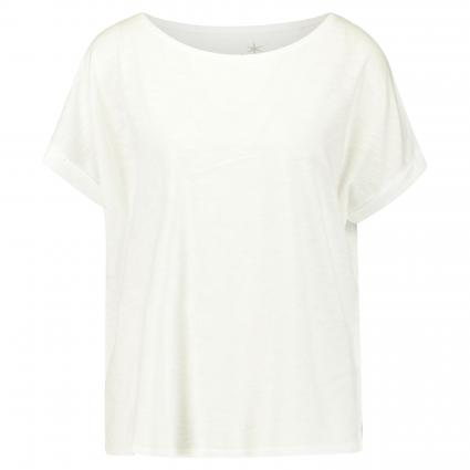 Basic T-Shirt mit Ärmelumschlag weiss (100 weiss) | XXL