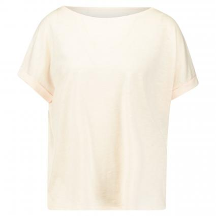 Basic T-Shirt mit Ärmelumschlag rose (765 blushed pink) | L