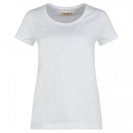T-Shirt 'Arden' mit Rundhalsausschnitt aus Flammgarn weiss (101 WHITE) | S