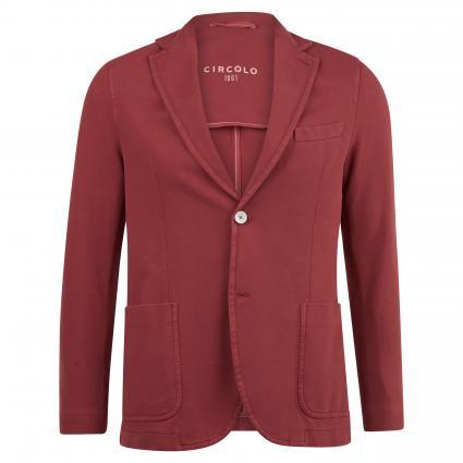 Slim-Fit Sakko aus Jersey mit kontrastfarbigen Knöpfen bordeaux (EARTH RED) | 46