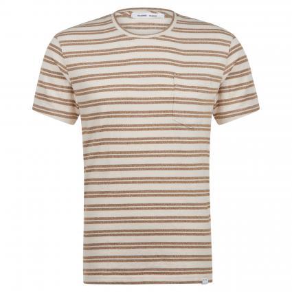 T-Shirt 'Carpo' mit Streifenmuster braun (monks robe str) | M