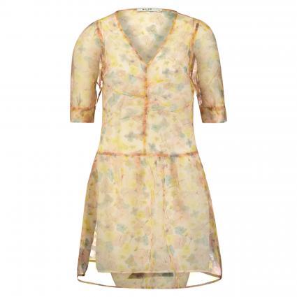 Transparentes Kleid mit floraler Musterung rose (FLORAL PRINT) | 42