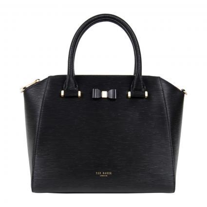 Tasche 'Daryyl' aus strukturiertem Leder schwarz (BLACK) | 0