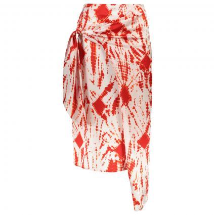 Midirock 'Vyse' aus gefärbter Seide rot (COMBO1  V1BR) | 42