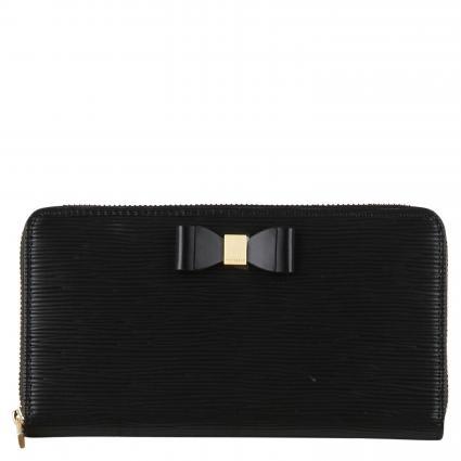 Portemonnaie 'Rouxi' mit Schleifendetail schwarz (BLACK) | 0