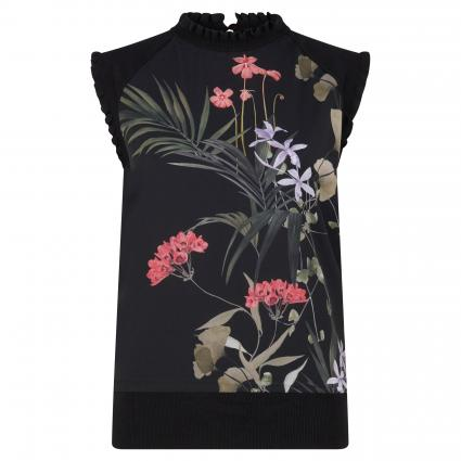 Top 'Henra' mit floralem Print schwarz (BLACK) | 40