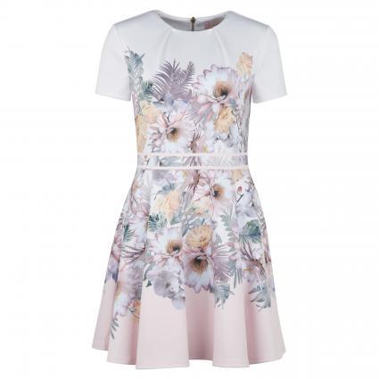 Kleid 'Haylinn' mit floralem Print weiss (WHITE)   42