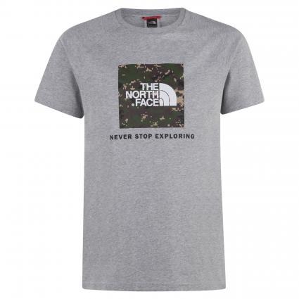 T-Shirt mit Label-Print grau (PW01 TNF GREY CAMO) | M