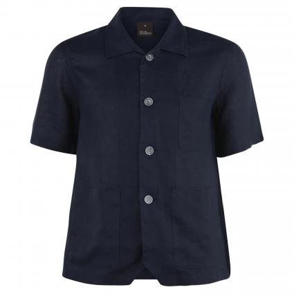 Regular-Fit Hemd 'Hanks' aus Leinen marine (222) | XL